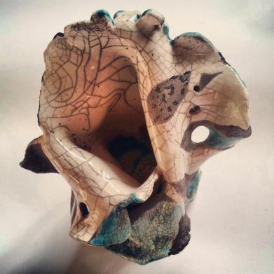 Pierrot, ceramica raku, 2012, h. 30 cm. ca.