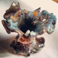 Anemone, ceramica raku, 2012, h. 35 cm. ca.