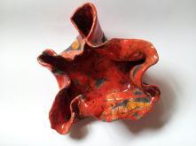Papavero, ceramica raku, 15 cm. ca. diametro, 2012