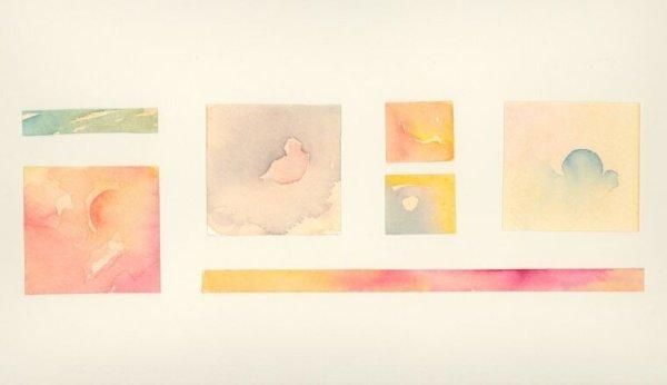 Tramonto, acquerelli e collage, 2001