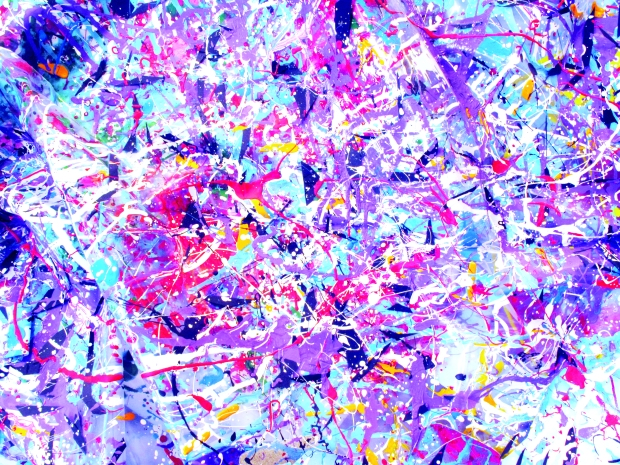 Grande nuvola, tela e scultura in plastica, tecniche miste, 60x80 cm., tridimensionale, 2010, dett.
