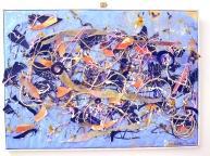 Il cielo, plastiche, corde, carta, collage, 50 x 70 cm. 2011