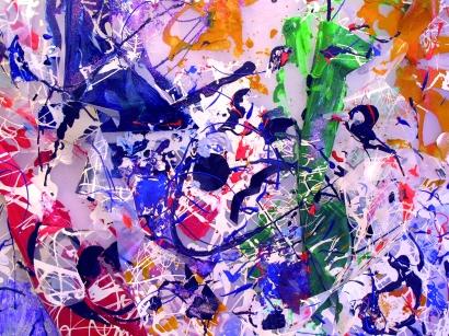 Nuvola Pierrot, plastiche, 80 x 90 cm., tridimensionale, 2011 dett.