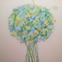 Good luck flower, pencil, 2015