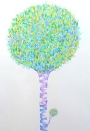 Spring birch flower, pencil, 2015