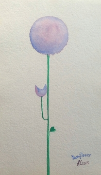 Moonflowers, watercolours, 2015