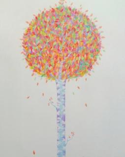 Autumn birch flower, pencil, 2015