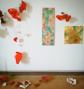 Parte della parete con mie opere