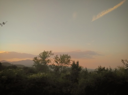 Monte Amiata al tramonto, da Castell'Azzara