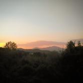 Monte Amiata al tramonto da Castell'Azzara